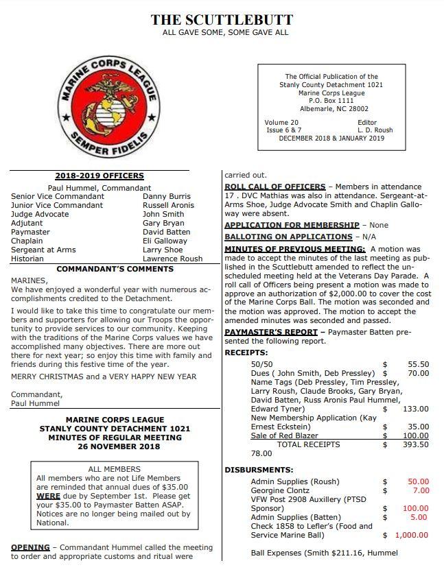 Department of North Carolina Marine Corps League